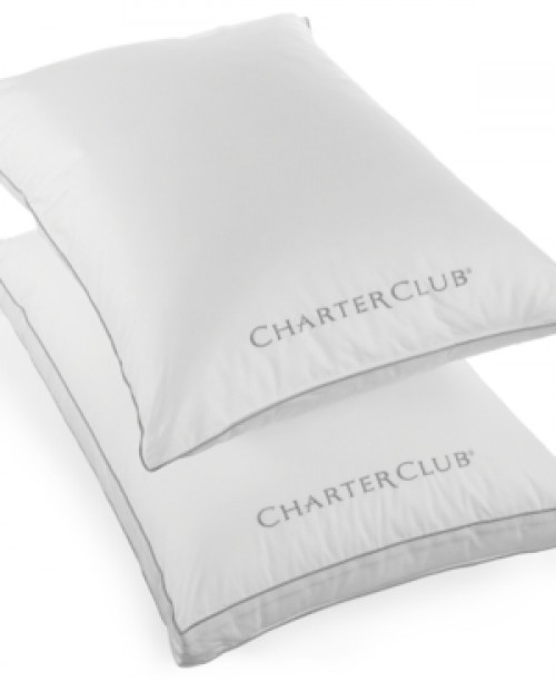 Charter Club Custom Comfort Gusseted Extra Firm Density Standard Pillow, Only at Macy's Bedding