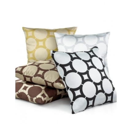 "Softline Element Circle 20"" Square Decorative Pillow Bedding"